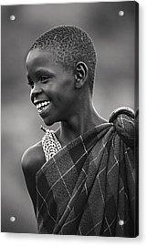 Acrylic Print featuring the photograph Masai #2 by Antonio Jorge Nunes