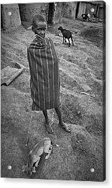 Acrylic Print featuring the photograph Masai #3 by Antonio Jorge Nunes