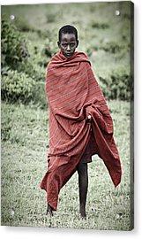 Acrylic Print featuring the photograph Masai #4 by Antonio Jorge Nunes