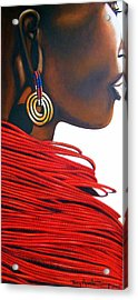 Masai Bride - Original Artwork Acrylic Print