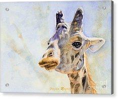 Acrylic Print featuring the painting Masai Giraffe by Bonnie Rinier