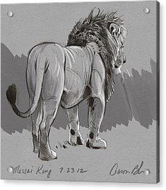 Masai King Acrylic Print by Aaron Blaise