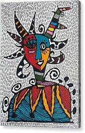 Mascara Vejigante Acrylic Print by Sandra Perez-Ramos