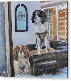 Mascots Of The Inn Acrylic Print by Donna Tuten