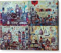 Maseed Maseed 3 Acrylic Print by Mohamed Fadul