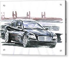 Maserati Quattroporte Acrylic Print by Ildus Galimzyanov