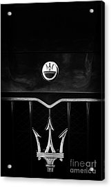 Maserati Quattroporte Monochrome Acrylic Print by Tim Gainey