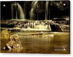 Mash Fork Falls Acrylic Print by Melissa Petrey