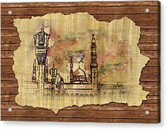 Masjid E Nabwi Sketch Acrylic Print by Catf