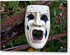 Mask And Ladybugs Acrylic Print by Garry Gay