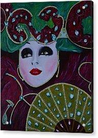 Mask Parade Acrylic Print by David Hawkes