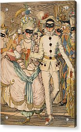 Masked Ball Acrylic Print by Konstantin Andreevic Somov