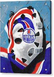 Masked Fuhr Acrylic Print by Paul Smutylo