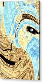 Masked- Man Abstract Acrylic Print