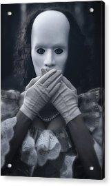 Masked Woman Acrylic Print by Joana Kruse