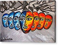 Masks Acrylic Print by Ramona Matei