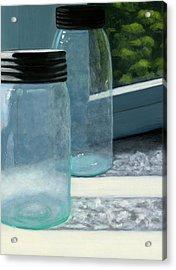 Mason Jars Acrylic Print by Karyn Robinson