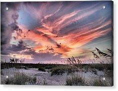 Masonboro Inlet September Sunset Acrylic Print