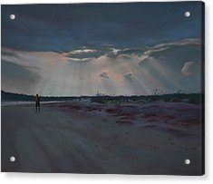 Masonboro Thunderstorm Acrylic Print by Christopher Reid