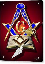 Masonic Education Acrylic Print by Stephen McKim