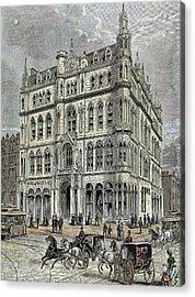 Masonic Temple Opened In 1867 Acrylic Print