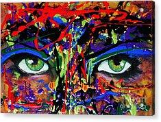 Masque Acrylic Print by Michael Cross