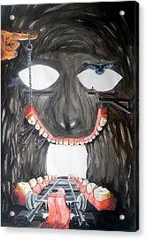 Acrylic Print featuring the painting Masquera Carcaza  by Lazaro Hurtado