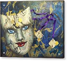 Masquerade Blues Acrylic Print