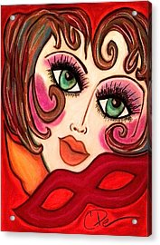 Masquerade Acrylic Print by Chrissy  Pena