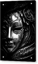 Masquerade In Grey Acrylic Print