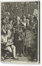 Masquerade, Lambertus Antonius Claessens Acrylic Print by Lambertus Antonius Claessens