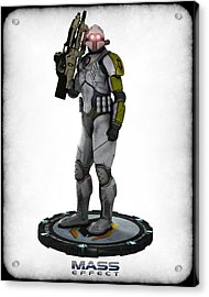 Mass Effect - Cerberus Soldier Acrylic Print by Frederico Borges