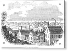 Acrylic Print featuring the painting Massachusetts Salem, 1854 by Granger