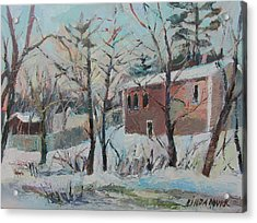 Massachusetts Snowfall Acrylic Print