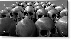 Massacre Of Skulls Acrylic Print by Allan Swart