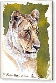 Massai Queen Acrylic Print