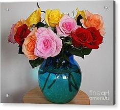 Massed Roses Acrylic Print