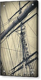 Mast And Rigging Postcard Acrylic Print
