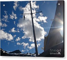 Mast And Sky Acrylic Print by Laura  Wong-Rose