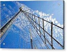Masted Sky Acrylic Print by Keith Armstrong