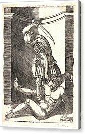 Master I.h. Aka Agostino Veneziano, Italian Acrylic Print