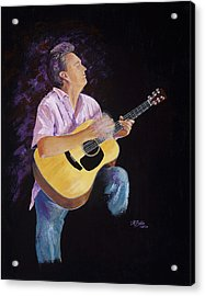 Acrylic Print featuring the painting Master In The Spotlight by Margaret Bobb