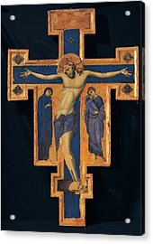 Master Of The Blue Crosses, Crucifix Acrylic Print