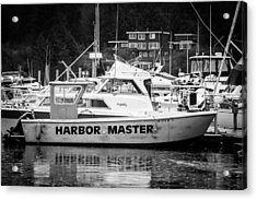 Master Of The Harbor Acrylic Print by Melinda Ledsome