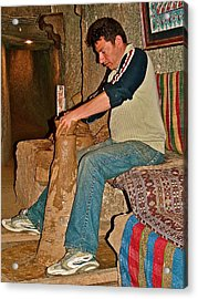 Master Potter At Work In Avanos-turkey Acrylic Print by Ruth Hager