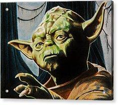 Master Yoda Acrylic Print by Brian Broadway