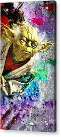 Master Yoda Acrylic Print by Daniel Janda