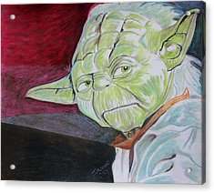 Master Yoda Acrylic Print by Jeremy Moore