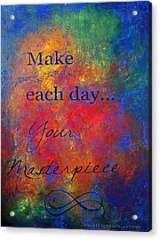 Masterpiece Acrylic Print by Jennifer Godshalk