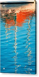 Masts Showing Off Acrylic Print by Joan Herwig